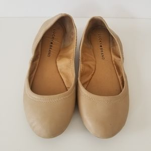Lucky Brand Emmie tan flats size 7m
